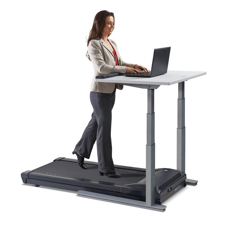 Adjustable standing desk with treadmill to keep you fit in your Vancouver office.