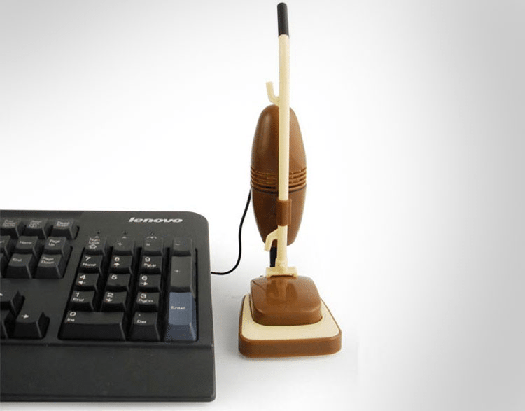 Miniature USB vacuum cleaner for your desk, a great office supply