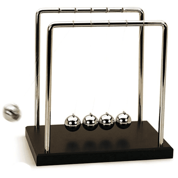 Newton's cradle is perfect for the CEO's desk